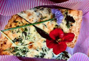 Spinach and parmesan tart slices